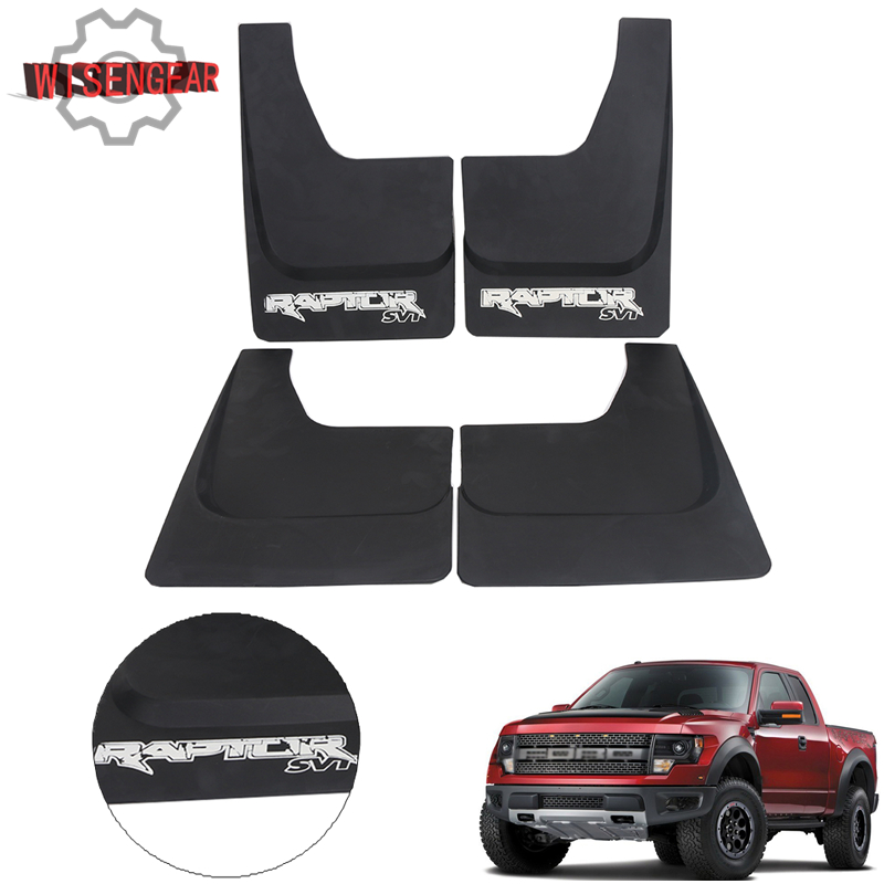 4x Car Exterior Parts Mud Flaps For Ford F150 F-150 2010 2011 2012 2013 2014 Splash Guards Mud Guards Fender with Screws RA009
