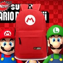 Super Mario браты канцэпцыя нейлонавыя заплечнікі Марыё чырвоныя заплечнікі Luigi зялёныя сумкі новы дызайн рэтра прыхільнікаў гульні заплечнікаў NB063