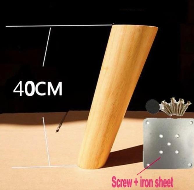 4Pieces/Lot H:40CM  Diameter:3-5cm  Furniture Accessories Oblique Sofa Wood Legs Solid  Wood TV Cabinet Table Foots Feet