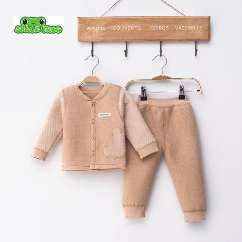 (2pcs/set)Newborn Baby 0-18M Brand  Boy Girl warm Clothes set 100%Cotton Cartoon winter Underwear baby set s-002 2pcs set baby clothes set boy
