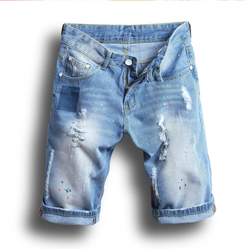2018 summer new style denim   shorts   men casual ripped jeans   shorts   casual   shorts   For Men Soft Comfortable   Shorts   size 28-38