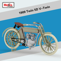 Maisto 1:18 for Harley 1909 Twin 5D V Twin Motorcycle Model Simulation Alloy Car Model Retro Motorbike Scooter Cycling Model Toy