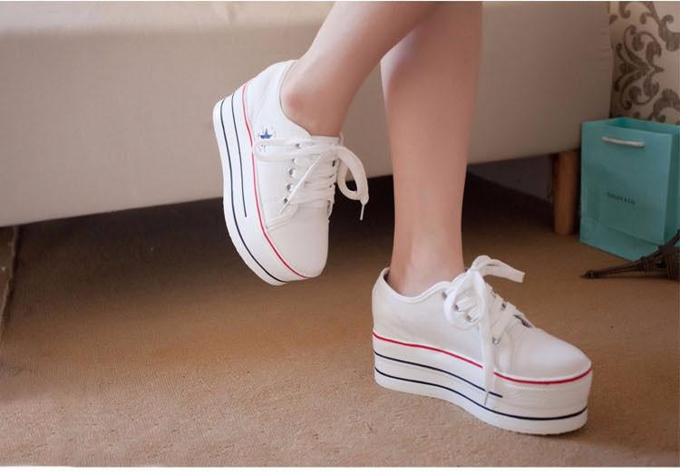 KUYUPP Flat Platform Canvas Shoes Women Creepers 2016 Fashion Sapatilha New Lace Up Casual Flats Ladies Shoes Espadrilles PX138 (21)