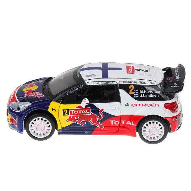 2017 1:26 aleación diecast car model colección ds3 wrc monte carlo w/luz y sonido se retraen coches modelo de los niños juguetes de niño regalos