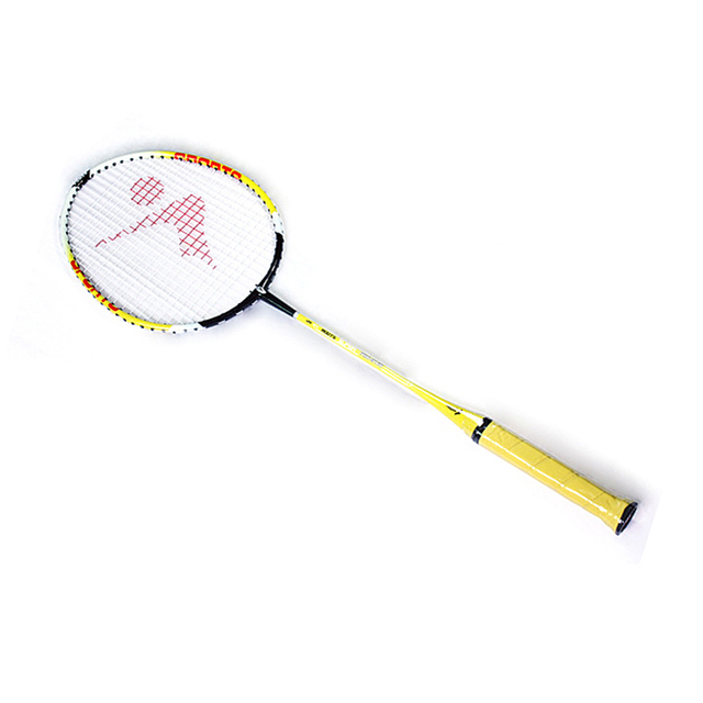2018 100% NEW Regail 9158 Durable Speed Badminton Racket Battledore Racquet with Carry Bag for Couples Yellow Color 1 Pair