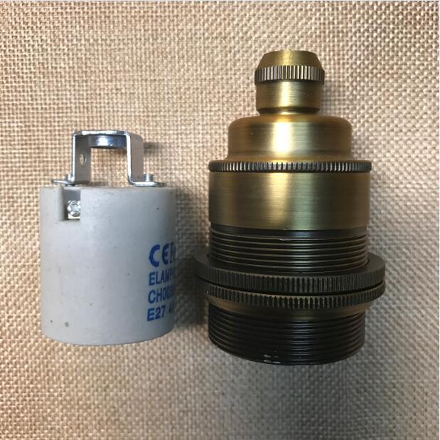 Soquete Douille E27, винтажный патрон, винтажный патрон E27, патрон для лампы, патрон Эдисона, патрон, промышленный ретро - Цвет: 1