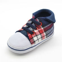 Flanging Plaid Canvas Shoes Comfortable Toddler Cute Appearance Fashionable Design Baby Soft Bottoms Infant