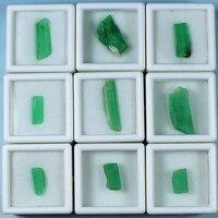 Класс натуральный изумруд образцы минералов поделочных камней минеральное стекло DIY шкатулка Luoshi руды оригинальный камень