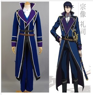 Free Shipping Top Quality  K Munakata Reisi Anime Cosplay Costume Full Set Customized Uniform