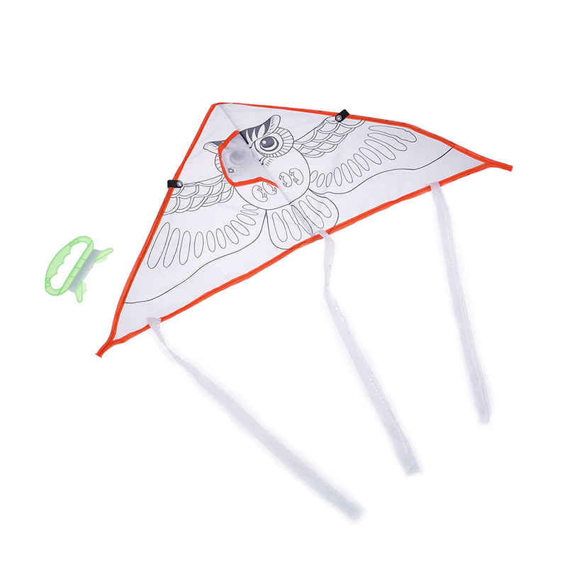 Colorful Kite Flying Foldable Outdoor Beach Kite  Kids Children Sport Funny Toys DIY Painting Kite