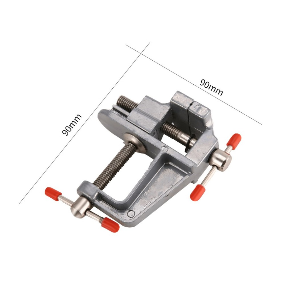 take Miniature Adjustable Aluminum Repair Tool Bench Vice Clamp on Table Vise