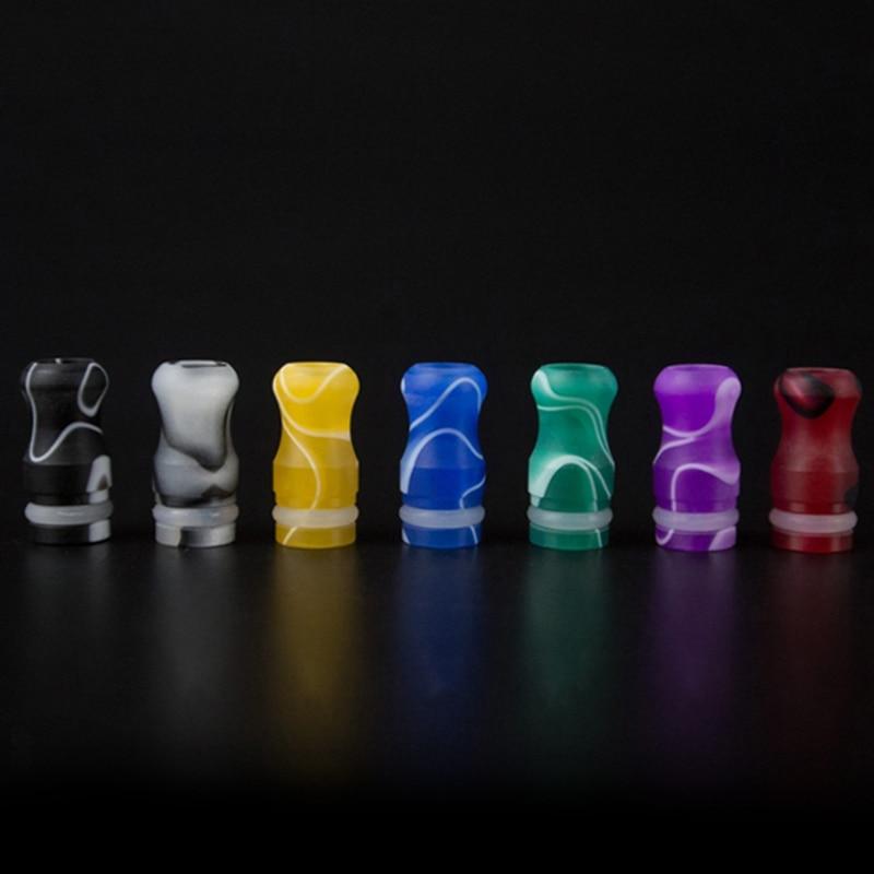 Tsondianz E Cigarette 510 Acrylic Drip Tips 19mm Hight Colorful Mouth 510 Drip Tip E For RDA RBA Vaporizer