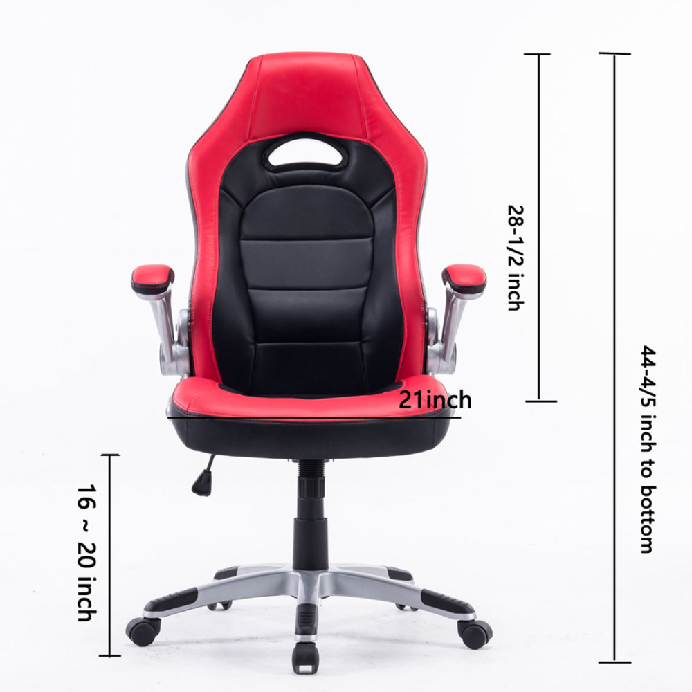 DJ Wang Soft PU Leather Executive Racing Office High Back Computer Swivel  Chair Office Manager Chair Red Black Game Staff Chair In Office Chairs From  ...