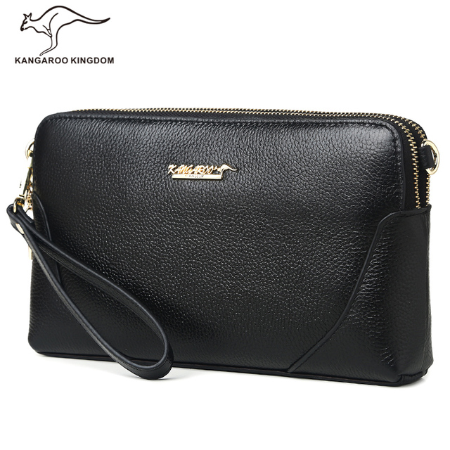 Kangaroo Kingdom Famous Brand Women Bag Genuine Leather Clutch Bags Ladies Small Shoulder Messenger Bag