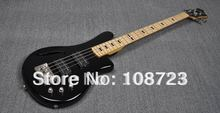 Wholesale – Free Shipping 4 String Black Double Track Active Pickups Electric Bass Guitar