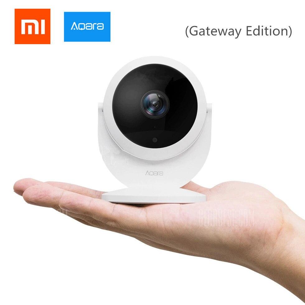2018 Xiaomi Mijia Aqara Smart IP CCTV alarma de enlace 1080 p HD (edición Gateway/hub), función xiaomi gateway, 180 grados FOV