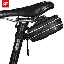 цена на NUCKILY Waterproof Bicycle Bag Rear Cycling Bike Saddle Bag With Hanging Ring EVA Mountain Road MTB Bike Seat Pouch PL03