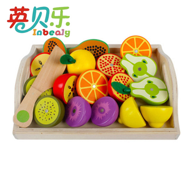 Wooden Kitchen Toy Pretend Play Miniature Cutting Fruit Vegetables Mother Garden Baby Early Education Toys for Children Girls кольца