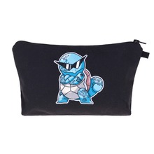 SQUIRTLE THUG LIFE 3D Printing 2016 Fashion Cosmetics Bag Women Makeup Bags With Multicolor Pattern for Traveling easy taking