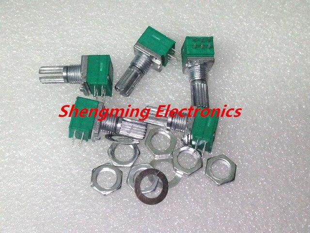 10pcs B20K RK097G Audio Amplifier Sealed Dual Potentiometer 15mm Shaft 6pins