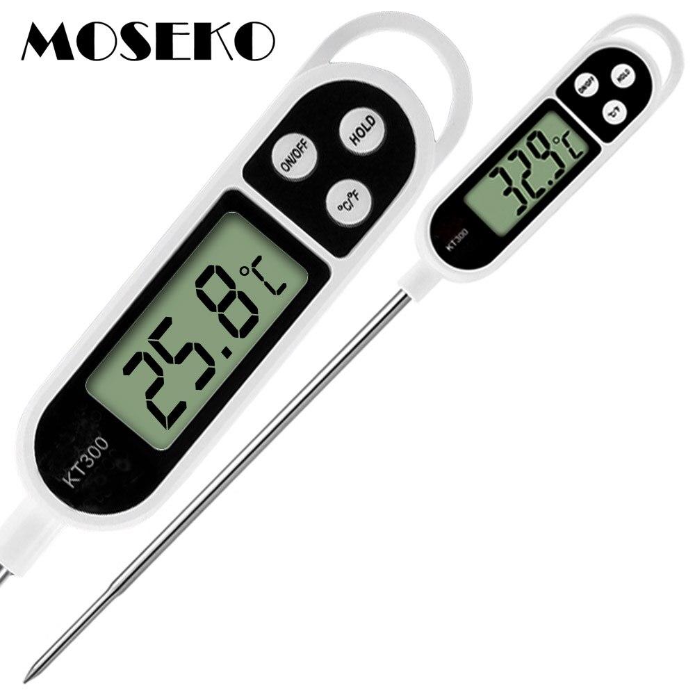 Moseko venda quente digital cozinha termômetro para carne de água leite cozinhar comida sonda churrasco eletrônico forno termômetro cozinha ferramentas