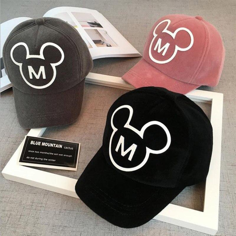 2017 New Children Hip Hop   Baseball     Cap   Winter Plush Mouse head kids Sun Hat Boys Girls snapback   Caps   for 2-8 years old