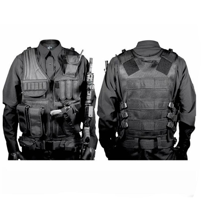 Tactical-Molle-VEST-Airsoft-Combat-Pistol-Gilet-Extérieur-Chasse-Formation-Homme-Gilet-Protection-Equipement