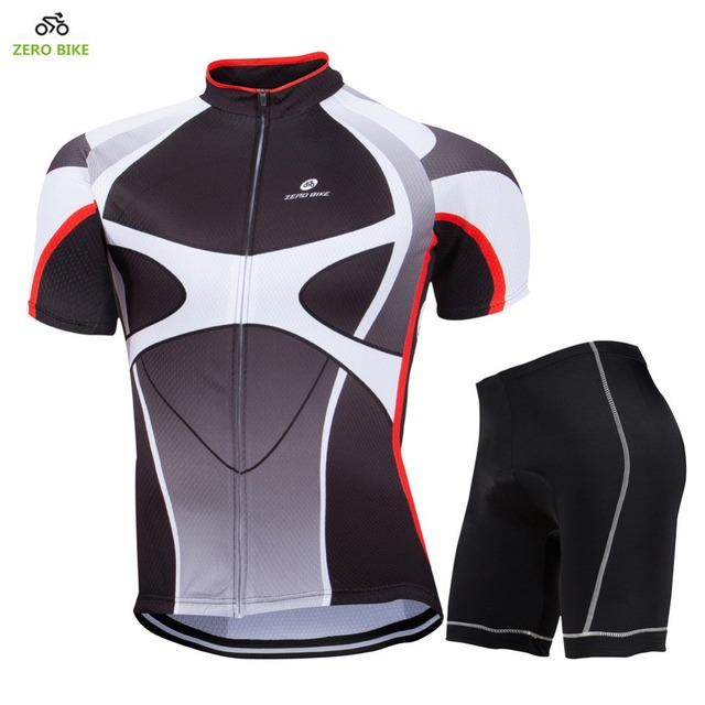 ZERO BIKE 2017New Men s Cycling Jersey+Shorts Quick Dry Bicycle clothes Gel  3D Padded Pants+Shirt M-XXL 5de9d080c