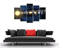 Unframed Solar System Space Scenery Poster Waterproof Painting By Numbers Canvas Fabric Print Wall Art Decor
