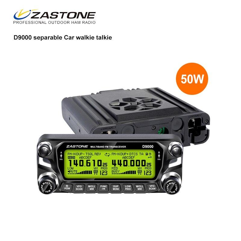 Zastone D9000 50W Car Walkie Talkie 50km Dual Band UHF 400 520MHz VHF 136 174MHz Mobile