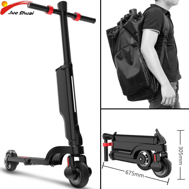 5.5 ''mini Scooter électrique sac à dos amovible batterie pliable Adulto longues planches E Scooter Hoverboard planche à roulettes électrique ebike