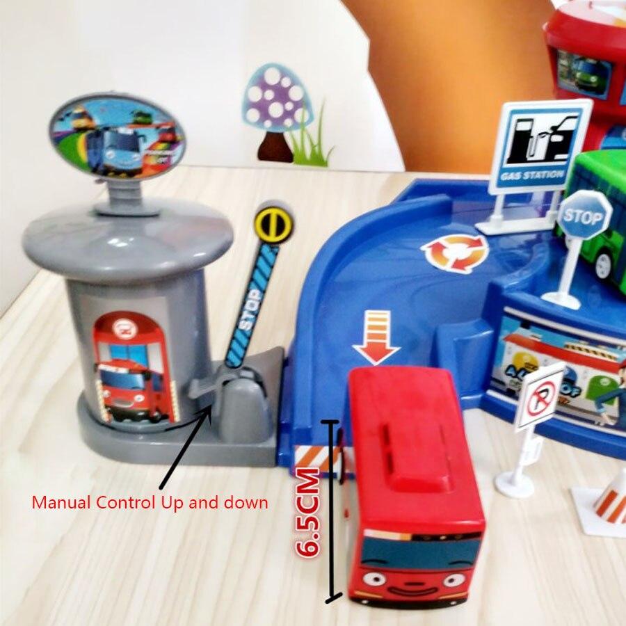 Tayo Bus Parking Lot Garage Distribution Two Buses Toy Car Mainan Garasi 1 Set 4 Pcs The Little Model Kids Oyuncak Birthday Present In Diecasts Vehicles