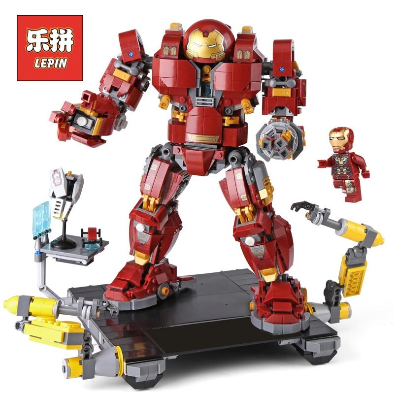 Lepin 07101 Super Série Héros le 76105 Iron Man Anti Hulk Mech Ensemble Robot Modèle de Construction Briques Blocs Enfants D'anniversaire cadeaux