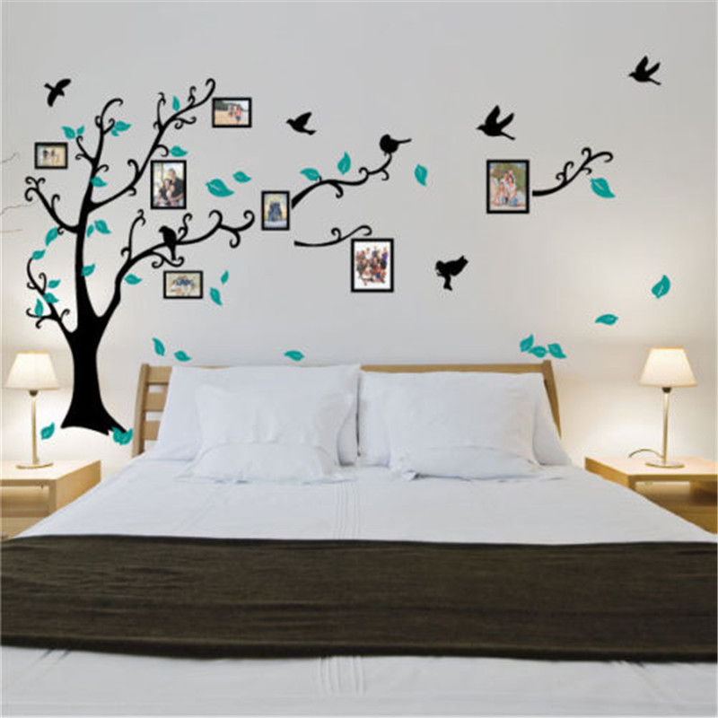 US $25.99 |J25 Family Tree Bird Photo Frame Vinyl Nursery Wall  Quotes,Lounge decorated children\'s bedroom wall stickers decorative  stickers-in Wall ...