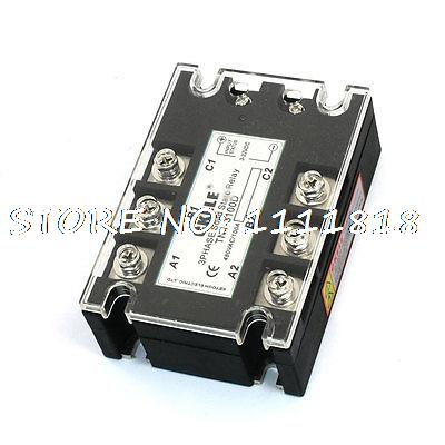 3-32VDC 480VAC 100A DC/AC Three Phase SSR Solid State Relay TN1/3100D ssr 60aa 24 480vac three phases bem3 solid state relay