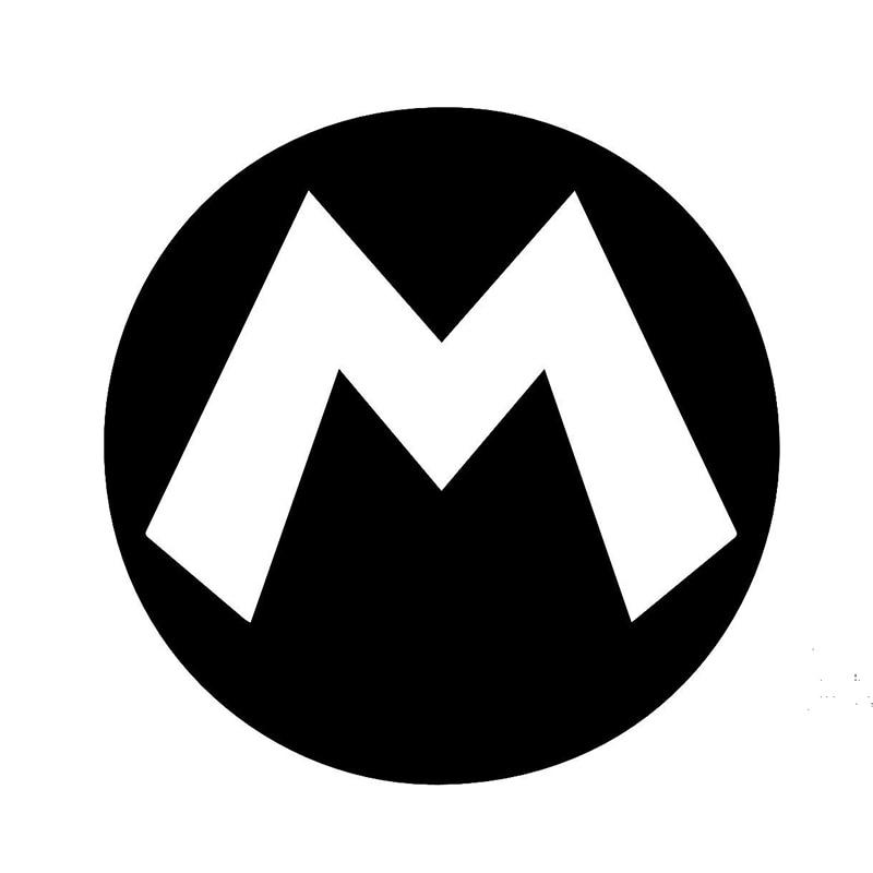 Animated Children S Favorite Game Mario M Super Car Sticker For Window Motorcycle Door Laptop Car