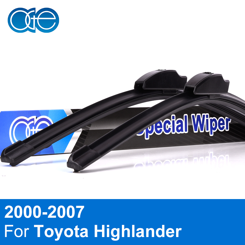 Oge Front And Rear Wiper Blade For Toyota Highlander 2000-2007 High Quality Rubber Windshield Car Accessories
