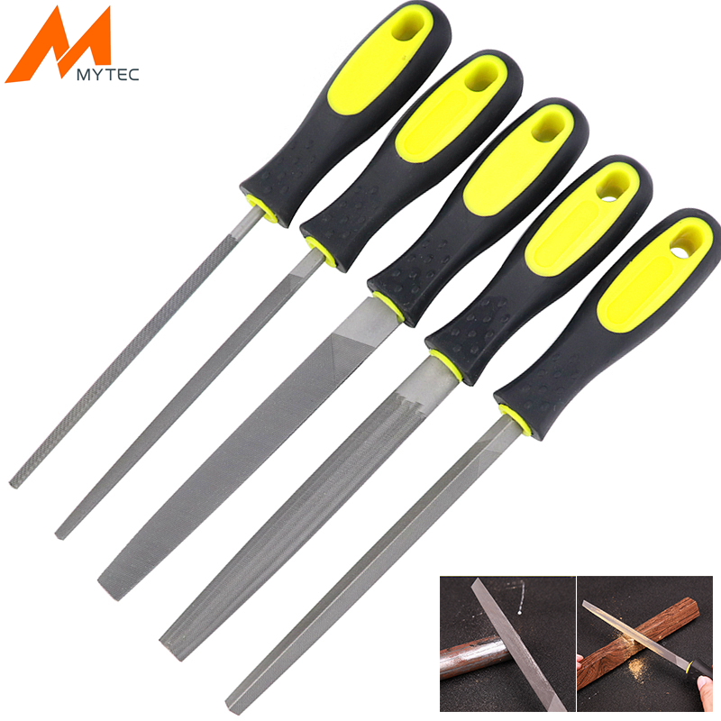 6''/8''/10'' Wood Rasp Steel File Carving Flat/Triangle/Round/Square/Semi-circular Metal File For Woodworking Craft Carving Tool