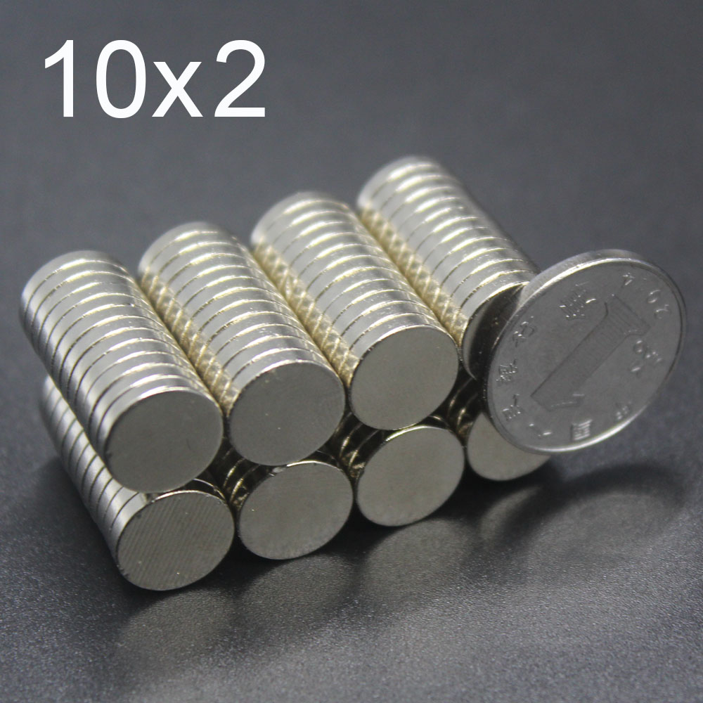 20/30/60/100Pcs 10x2 Neodymium Magnet 10mm X 2mm N35 NdFeB Round Super Powerful Strong Permanent Magnetic Imanes Disc 10x2