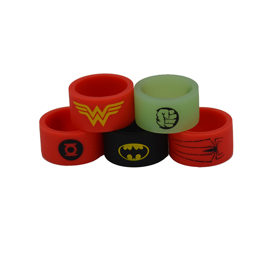 150pcs Silicone Rubber vape band decorative and vape ring silicone band rings for E Cig box