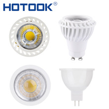 HOTOOK LED Spotlight COB Bombillas LED Bulb MR16 GU10 LED Lamp 220V 110V 12V Dimmable 7W 5W AmpoulLampada for Home Ceilling Room(China)