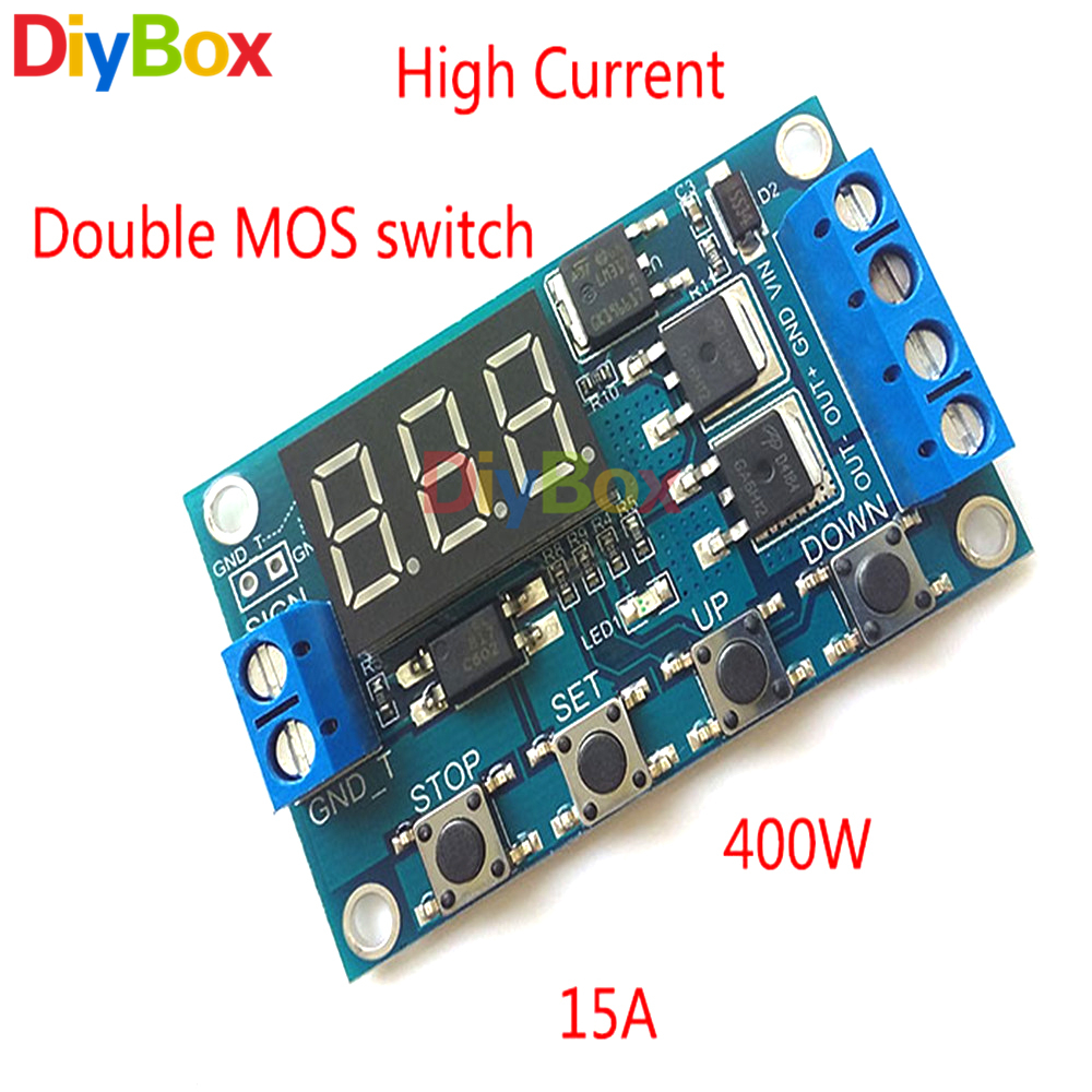 Dc 12v 24v Time Delay Relay Switch Module Double Mos Tube Control 125v Mini2440 Power Supply System Schematic Diagram 4 1 2 3