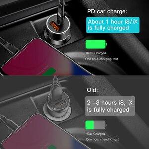 Image 4 - Baseus 36W szybkie ładowanie 3.0 ładowarka samochodowa dla iPhone QC 3.0 USB type c PD szybkie ładowanie telefon komórkowy szybka ładowarka ładowarka samochodowa