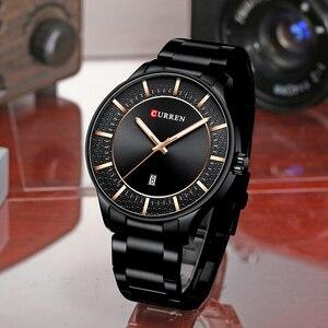 Image 4 - CURREN Relogio Masculino אופנה זכר שעון איש נירוסטה להקת שעון גברים קוורץ שעוני יד עם תאריך מקרית עסקי מתנה