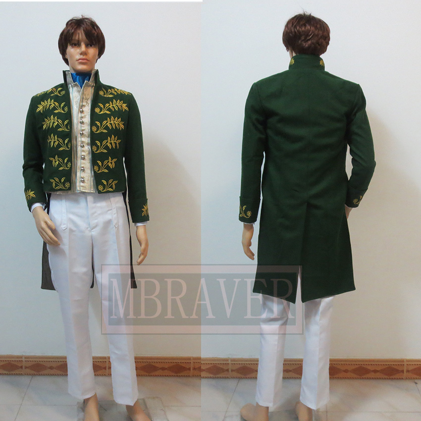 Prince Charming Costume Cinderella Prince Costume New Cinderella Movie Cosplay Costume Custom Made Any Size