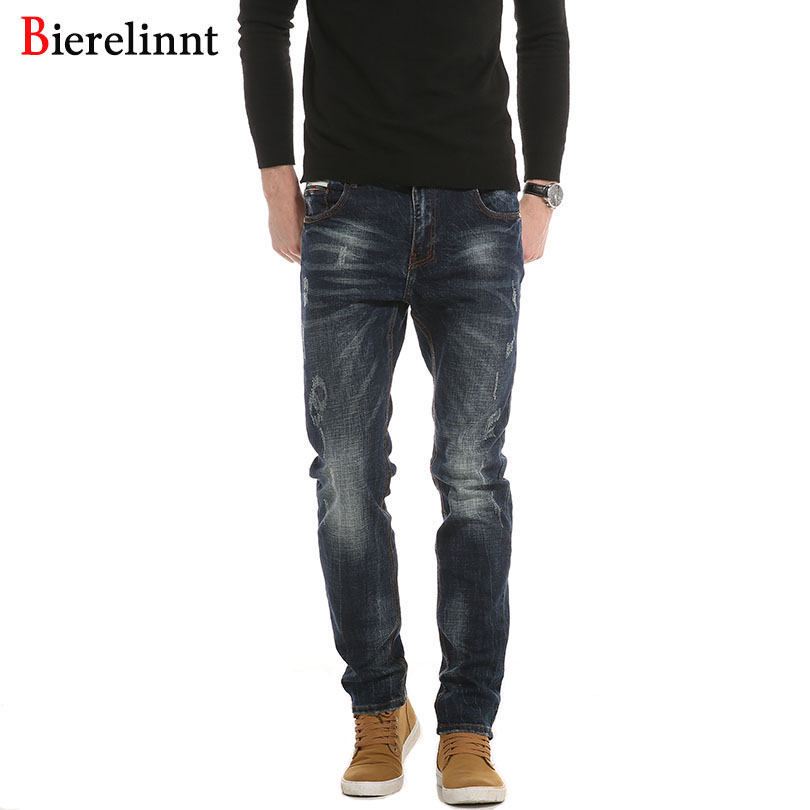 2018 New Autumn And Winter Denim Cotton Elastic Straight Casual Jeans Men,Fashion Hot Sale Good Quality Men Jeans,PG6382# new fashion style hot sale autumn winter thick male jeans straight slim looking men full length pants heavyweight solid cozy