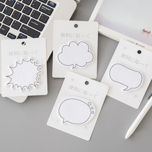 1pack /lot Japanese Dialog Box Series Self-Adhesive N Times Memo Pad Sticky Notes stationery office School supplies