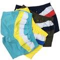 Calções de moda para homens com painéis de cintura baixa calções sólidos dos homens regulares patchwork bolsos prefeito curto 4 cores 5P0644