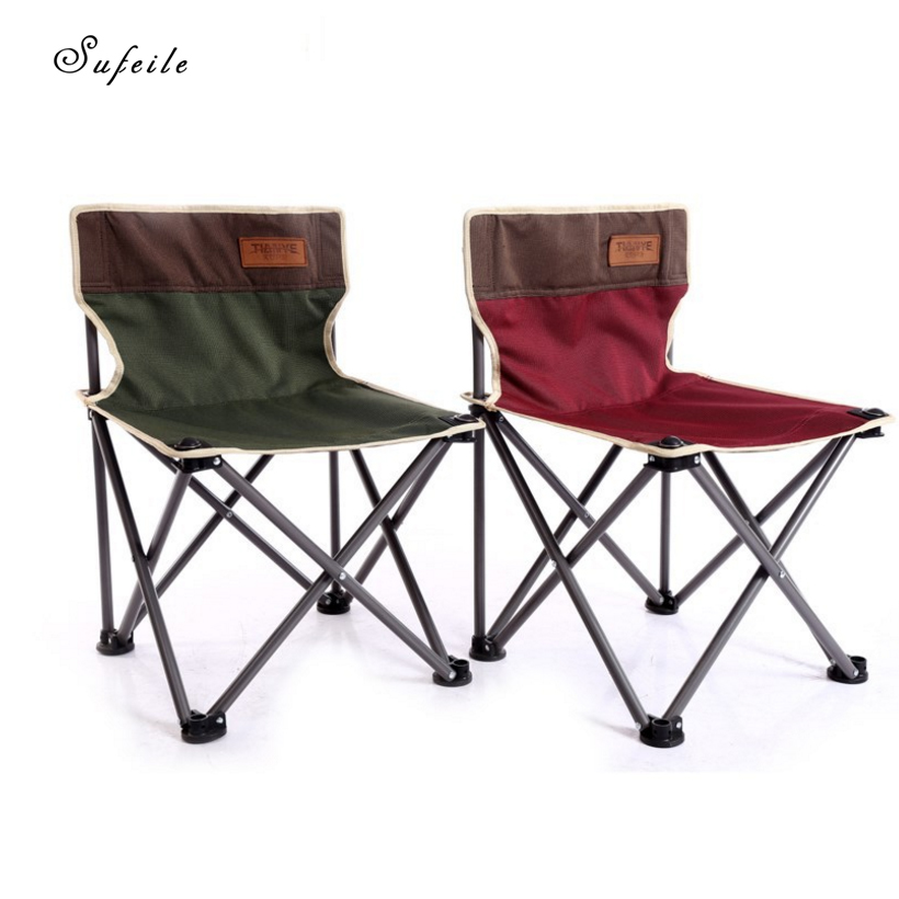 SUFEILE Portable aluminum fishing chair Outdoor leisure folding beach chair Outdoor camping waterproof lounge chair D5 camouflage outdoor comfortable folding fishing chair breathable moon chair leisure chair butterfly chair