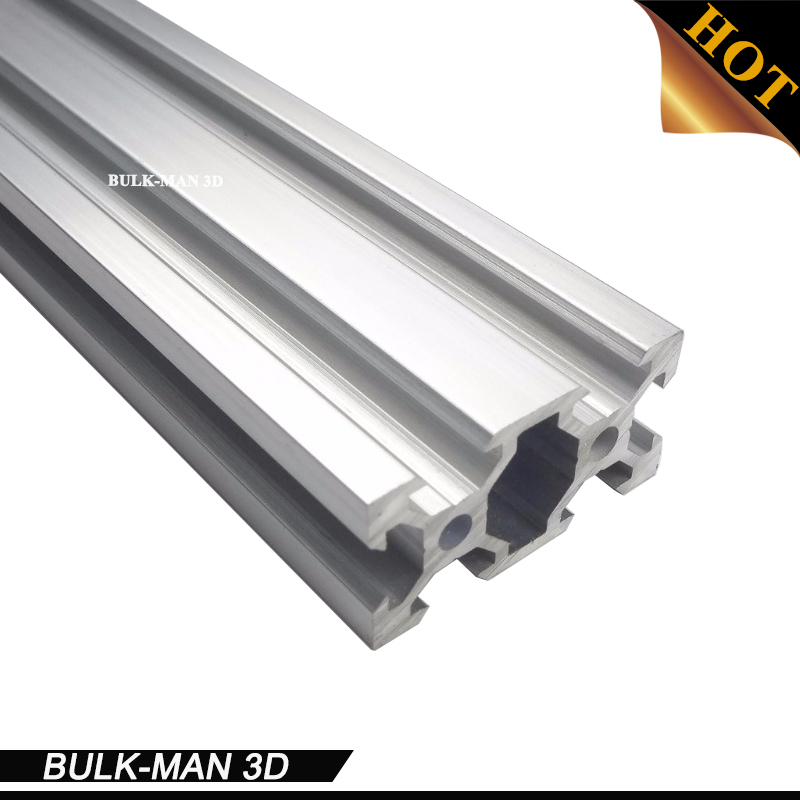 5Meters/Lot V-Slot Linear Rail 2040 Black/Silver Anodized Aluminum Profile on DIY 3D printer, cnc engraving machine